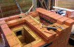Этапы строительства печей из кирпича