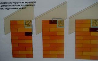 Как надежно соединить мауэрлат с кирпичной стеной?