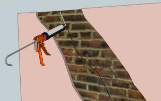 Самостоятельня заделка трещин в кирпичных стенах