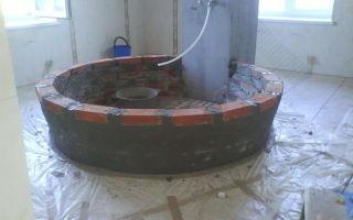 Универсальная ванна из кирпича своими руками