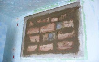 Как можно заложить окно кирпичом