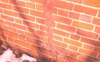 Устранение трещин в кирпичной кладке