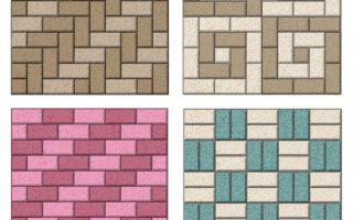 Раскладка и укладка тротуарной плитки