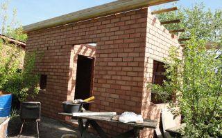 Строительство бани из кирпича своими руками