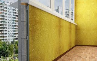 Покраска внутренней и наружной стены балкона