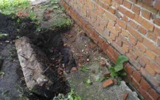 Укрепление старого фундамента кирпичного дома