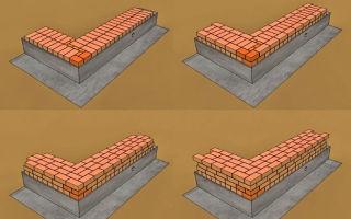 Возведение кирпичной стены: технология укладки кирпича