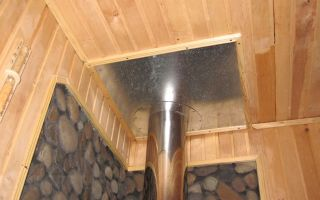Монтаж дымохода в бане или сауне