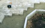Принципы и технология укладки брусчатки на бетонное основание
