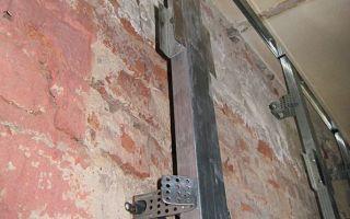 Как правильно обшить гипсокартоном кирпичную стену?