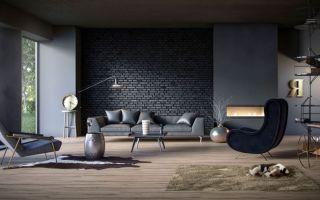 Кирпичная стена — модная тенденция в интерьере