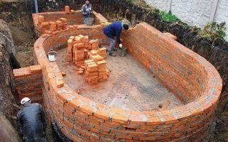 Сооружение бассейна своими руками из кирпича
