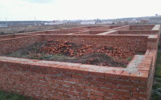 Строительство фундамента из кирпича своими руками