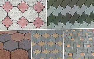 Какие бывают узоры из тротуарной плитки
