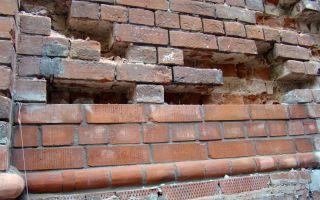 Реставрация (вычинка) старых кирпичных стен