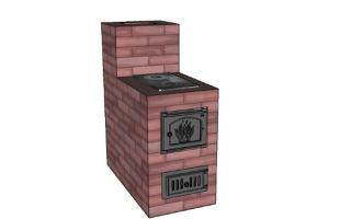 Мини-печь из кирпича