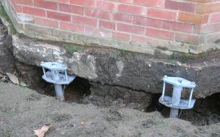 Как поднять фундамент кирпичного дома