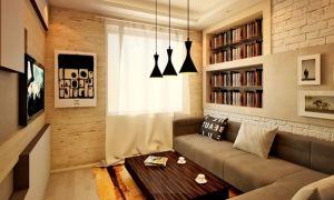 Варианты оформления кирпичной стены в гостиной