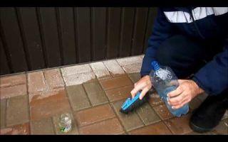 Чем и как можно отмыть тротуарную плитку от цемента?