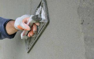 Особенности штукатурки стен цементом