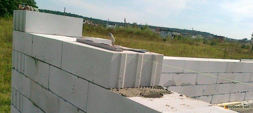 Кладка пеноблока на песчано цементный раствор стол из бетона на заказ