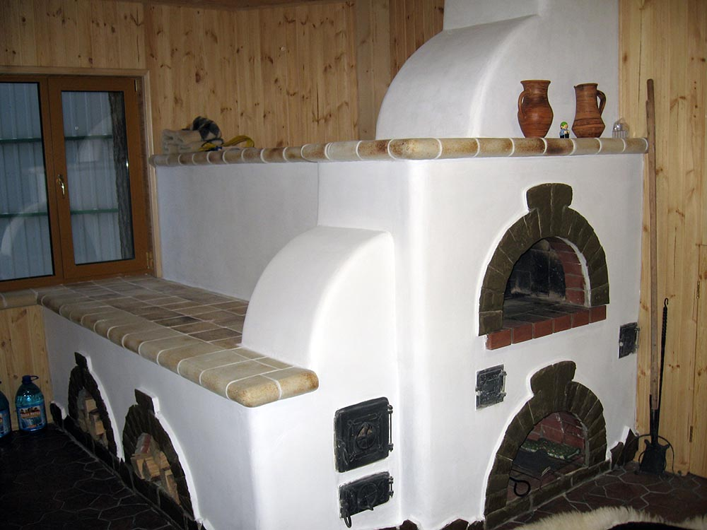 Русская печь с лежанкой своими руками
