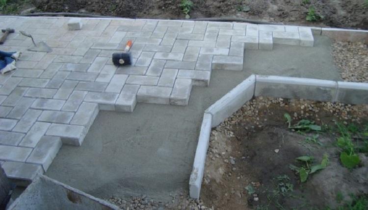 Цементный раствор для укладки плитки тротуарной северск бетон