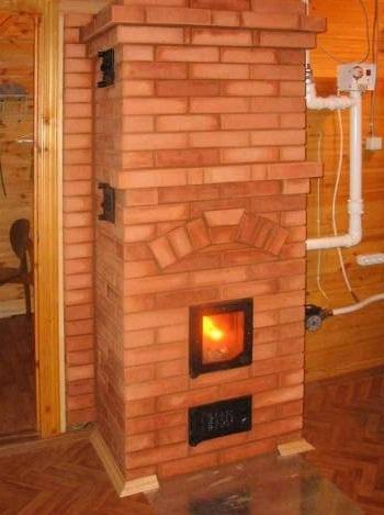 Печное отопление в частном доме — схема с водяным контуром