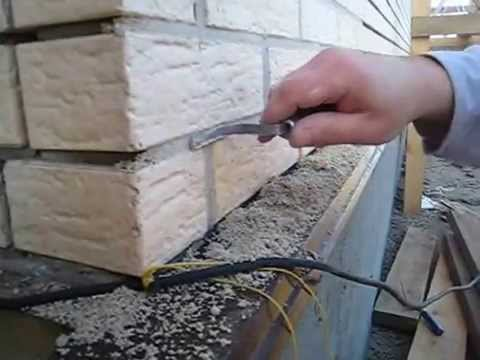 Чем замазать швы в кирпичной кладке
